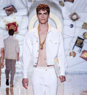 Versace Men's Spring 2015 during Milan Fashion Week